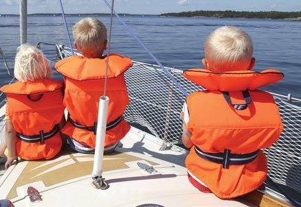 Children on a Sailing Boat