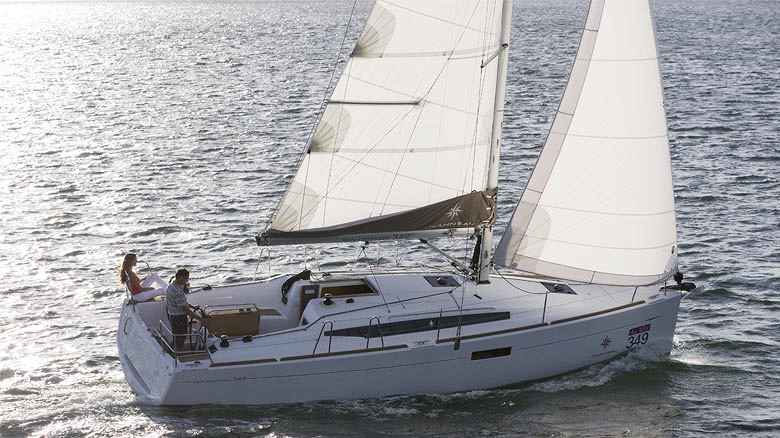 Monohull sailing yacht charter sailing in Greece