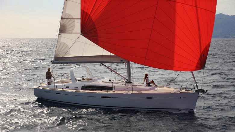 Monohull sailing yacht charter sailing in Italy
