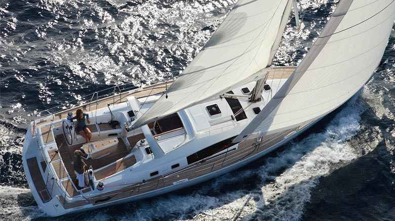 Monohull sailing yacht charter sailing in France