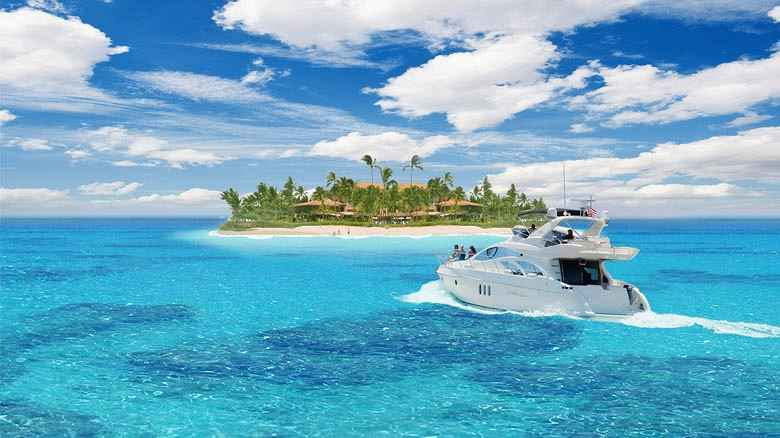 charter motor yacht  in the Caribbean